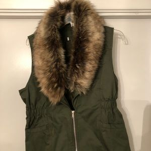 Other - Vest with Faux Fur Collar